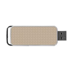 Pattern Ornament Brown Background Portable Usb Flash (two Sides)