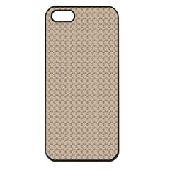 Pattern Ornament Brown Background Apple iPhone 5 Seamless Case (Black)