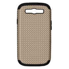 Pattern Ornament Brown Background Samsung Galaxy S Iii Hardshell Case (pc+silicone)