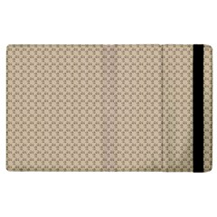 Pattern Ornament Brown Background Apple iPad 3/4 Flip Case