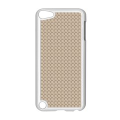 Pattern Ornament Brown Background Apple iPod Touch 5 Case (White)