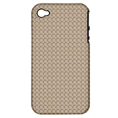 Pattern Ornament Brown Background Apple Iphone 4/4s Hardshell Case (pc+silicone)