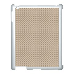 Pattern Ornament Brown Background Apple iPad 3/4 Case (White)