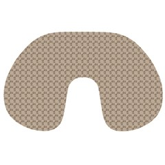 Pattern Ornament Brown Background Travel Neck Pillows