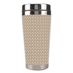 Pattern Ornament Brown Background Stainless Steel Travel Tumblers