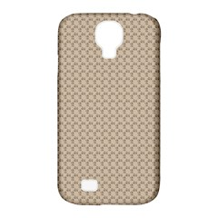 Pattern Ornament Brown Background Samsung Galaxy S4 Classic Hardshell Case (PC+Silicone)