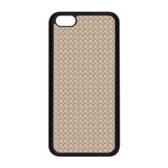 Pattern Ornament Brown Background Apple Iphone 5c Seamless Case (black)