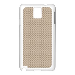 Pattern Ornament Brown Background Samsung Galaxy Note 3 N9005 Case (White)