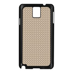 Pattern Ornament Brown Background Samsung Galaxy Note 3 N9005 Case (Black)