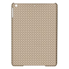 Pattern Ornament Brown Background iPad Air Hardshell Cases