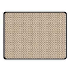 Pattern Ornament Brown Background Double Sided Fleece Blanket (Small)