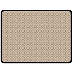 Pattern Ornament Brown Background Double Sided Fleece Blanket (Large)