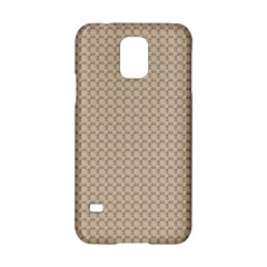 Pattern Ornament Brown Background Samsung Galaxy S5 Hardshell Case