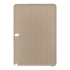 Pattern Ornament Brown Background Samsung Galaxy Tab Pro 10.1 Hardshell Case