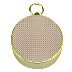 Pattern Ornament Brown Background Gold Compasses