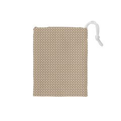 Pattern Ornament Brown Background Drawstring Pouches (Small)