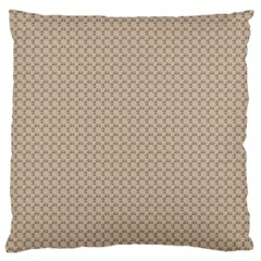 Pattern Ornament Brown Background Large Flano Cushion Case (Two Sides)