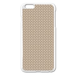 Pattern Ornament Brown Background Apple iPhone 6 Plus/6S Plus Enamel White Case