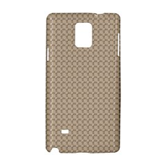 Pattern Ornament Brown Background Samsung Galaxy Note 4 Hardshell Case