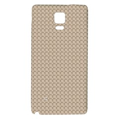 Pattern Ornament Brown Background Galaxy Note 4 Back Case