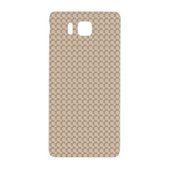 Pattern Ornament Brown Background Samsung Galaxy Alpha Hardshell Back Case