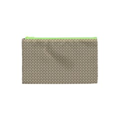 Pattern Ornament Brown Background Cosmetic Bag (XS)