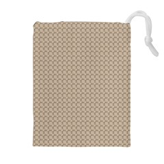 Pattern Ornament Brown Background Drawstring Pouches (Extra Large)