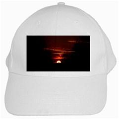 Sunset Sun Fireball Setting Sun White Cap