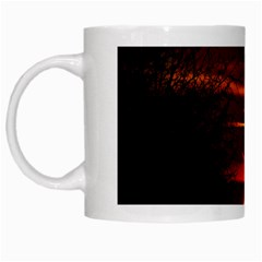 Sunset Sun Fireball Setting Sun White Mugs