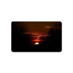 Sunset Sun Fireball Setting Sun Magnet (name Card)