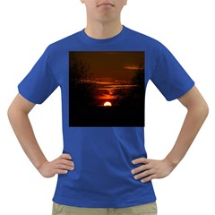 Sunset Sun Fireball Setting Sun Dark T Shirt