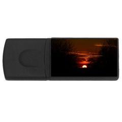 Sunset Sun Fireball Setting Sun USB Flash Drive Rectangular (4 GB)