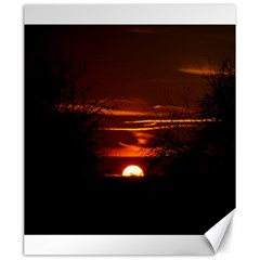 Sunset Sun Fireball Setting Sun Canvas 20  X 24