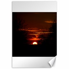 Sunset Sun Fireball Setting Sun Canvas 24  X 36