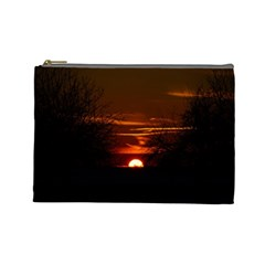 Sunset Sun Fireball Setting Sun Cosmetic Bag (large)