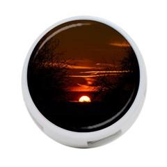 Sunset Sun Fireball Setting Sun 4-Port USB Hub (Two Sides)