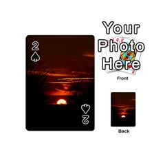 Sunset Sun Fireball Setting Sun Playing Cards 54 (mini)
