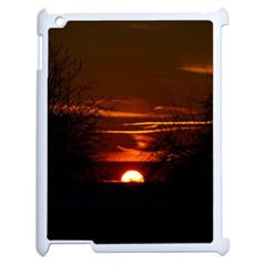 Sunset Sun Fireball Setting Sun Apple iPad 2 Case (White)