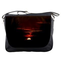 Sunset Sun Fireball Setting Sun Messenger Bags