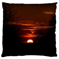 Sunset Sun Fireball Setting Sun Large Cushion Case (One Side)