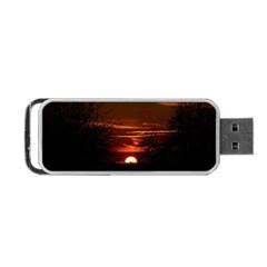 Sunset Sun Fireball Setting Sun Portable Usb Flash (one Side)