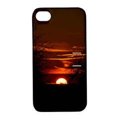 Sunset Sun Fireball Setting Sun Apple iPhone 4/4S Hardshell Case with Stand