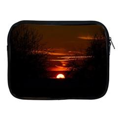 Sunset Sun Fireball Setting Sun Apple iPad 2/3/4 Zipper Cases