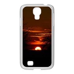 Sunset Sun Fireball Setting Sun Samsung GALAXY S4 I9500/ I9505 Case (White)