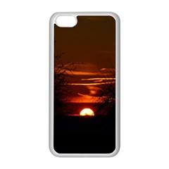 Sunset Sun Fireball Setting Sun Apple Iphone 5c Seamless Case (white)