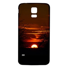 Sunset Sun Fireball Setting Sun Samsung Galaxy S5 Back Case (White)