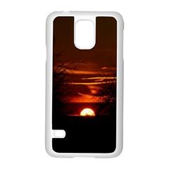 Sunset Sun Fireball Setting Sun Samsung Galaxy S5 Case (White)