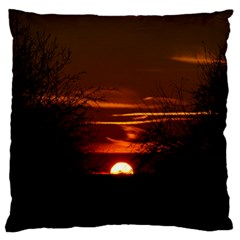 Sunset Sun Fireball Setting Sun Large Flano Cushion Case (One Side)