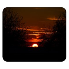 Sunset Sun Fireball Setting Sun Double Sided Flano Blanket (Small)