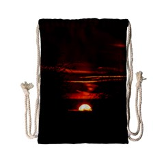 Sunset Sun Fireball Setting Sun Drawstring Bag (Small)